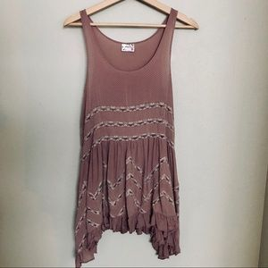 Free People Viole and Lace Trapeze Slip XS